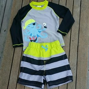 Carter's Just for you 2 peice boys swim set 4T